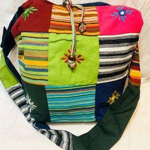 Multicolor cross body bag